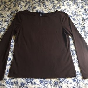 Chaps Brown Long Sleeve M
